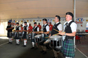 Drum line in the beer tent