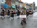 The Fergus Pipe Band led by President Bill Longshaw